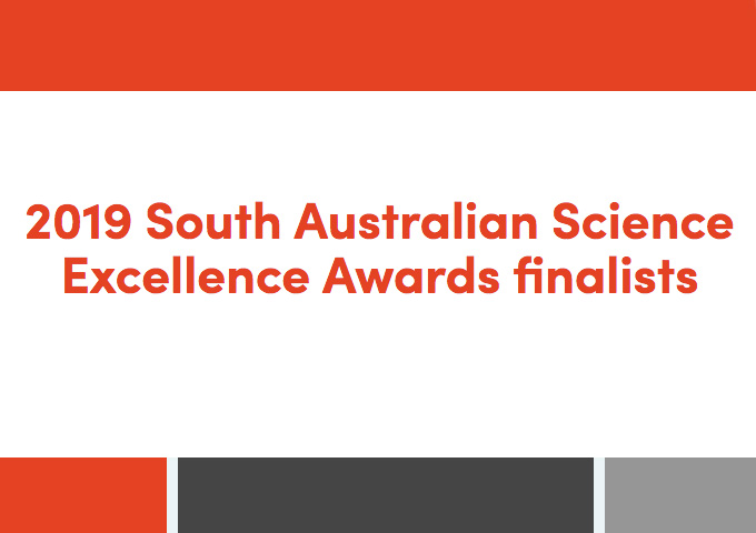 Finalists: Unsung Hero Awards of South Australian Science 2019