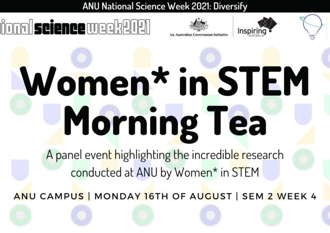 Rescheduled: ANU Women* in STEM Morning Tea